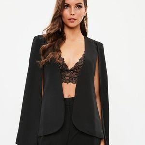 Missguided black cape blazer